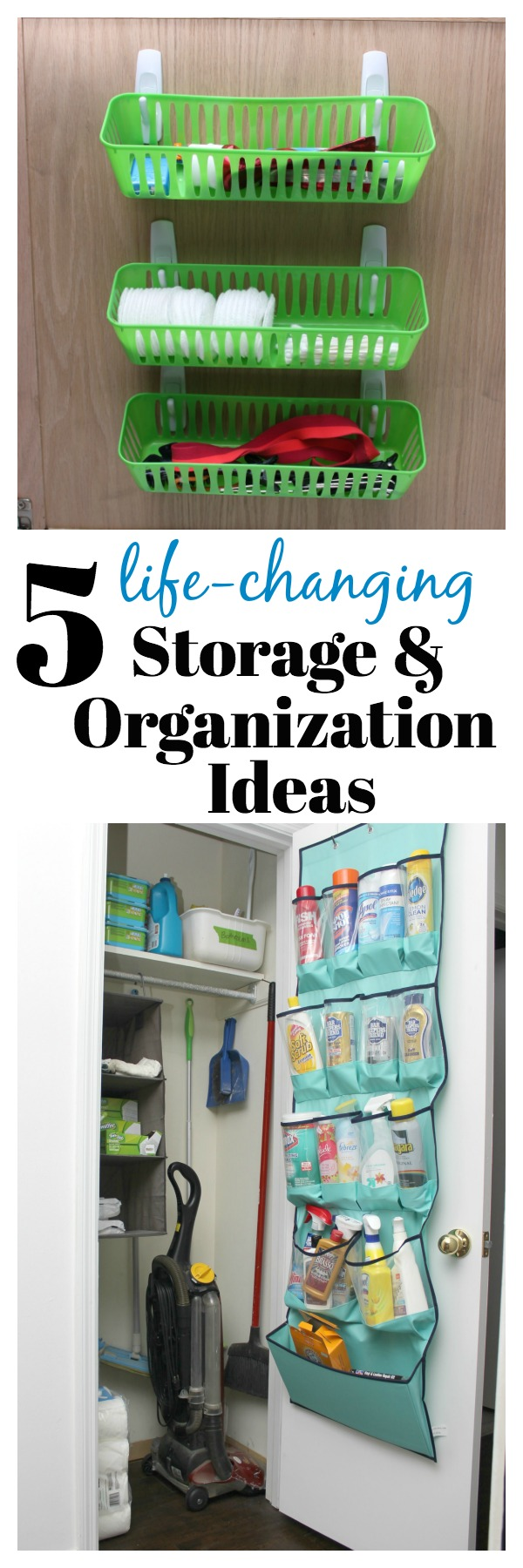 These budget friendly simple storage and organization ideas will have you wishing you had known about them sooner! They will simplify your home and life!