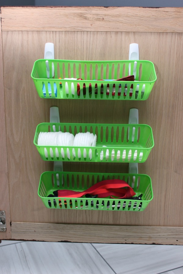 Spectacular Use mand hooks and Dollar Tree bins for vanity organization More great ideas in the