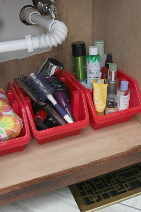 Fresh Bathroom Organization more great storage ideas in the post Simple Storage and Organization