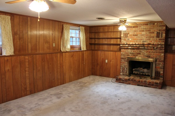 The Den BEFORE: Five Ways To Decorate A Room With Wood Paneling And Make It