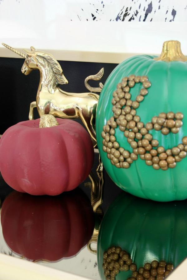 Fall Home Tour | Painted Pumpkins | DIY Ampersand Pumpkin