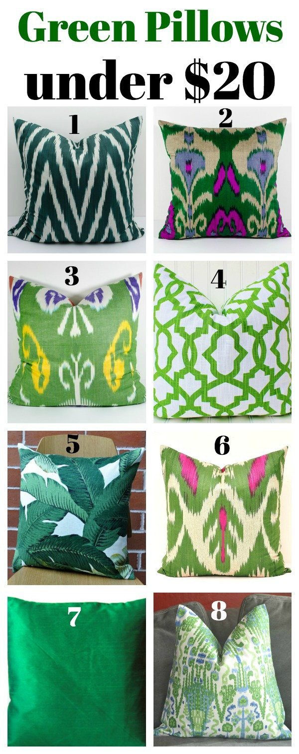 Green Pillows Under $20 - Affordable, but stylish pillows!
