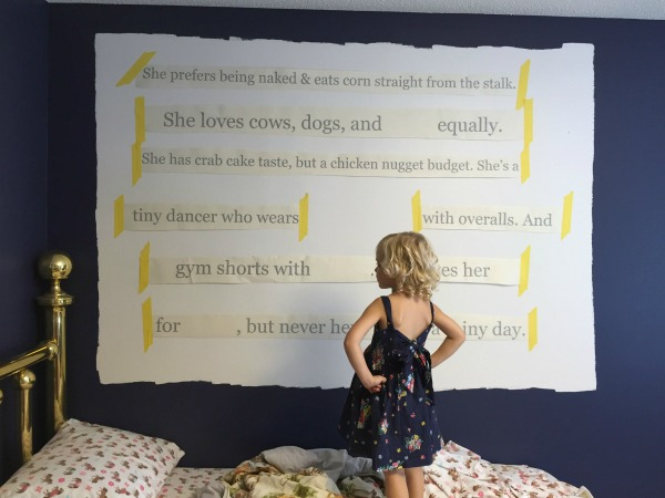 How to Create an Object and Text Feature Wall | Place decals on wall.