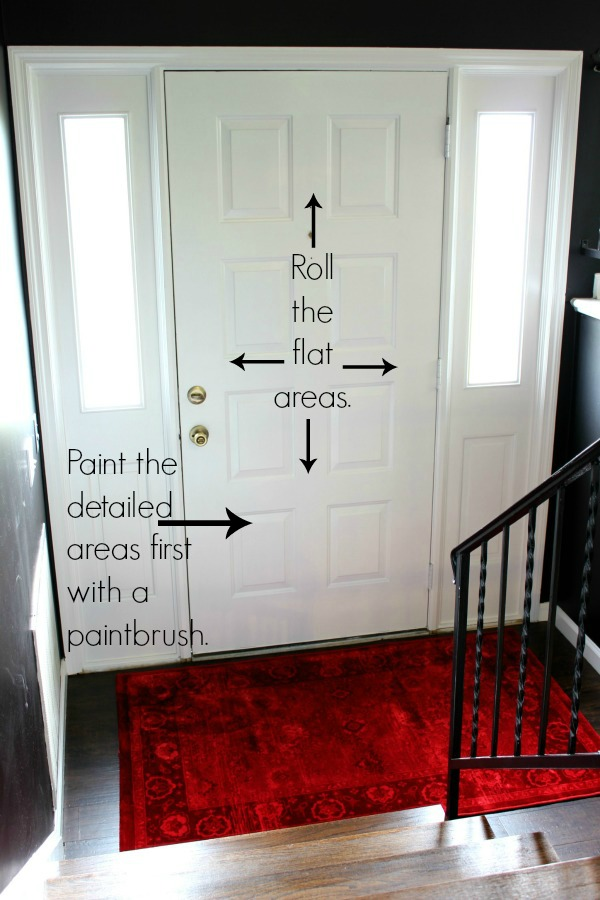 Painting 101 how to paint trim and doors for What kind of paint do you use on interior doors