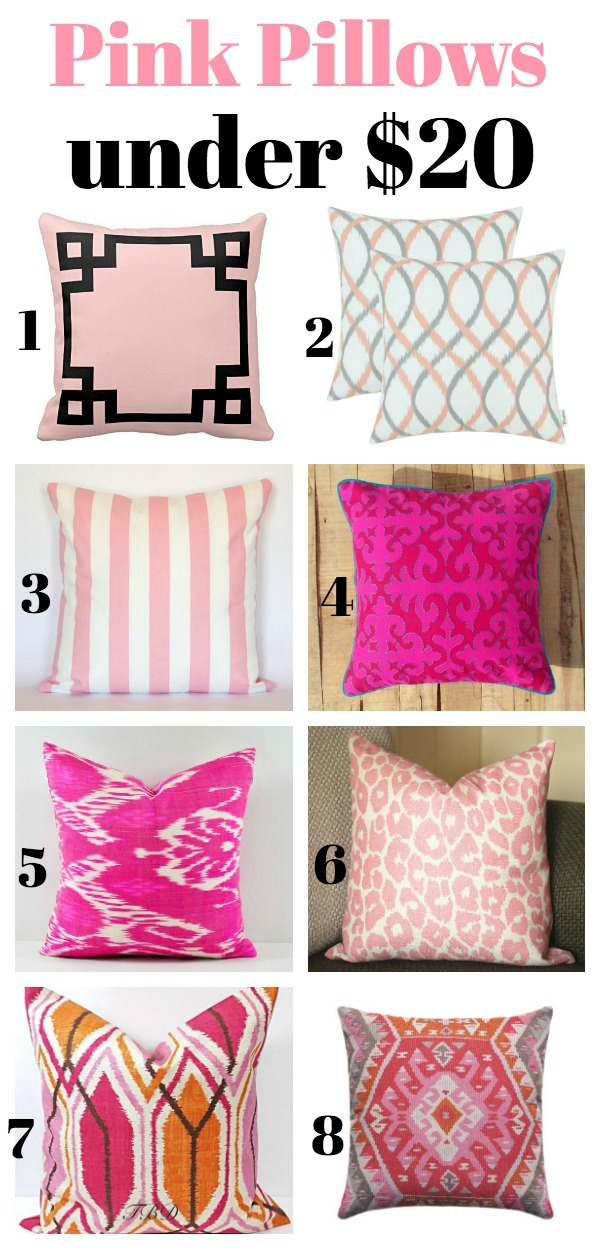 Pink Pillows Under $20 - Affordable, but stylish pillows!