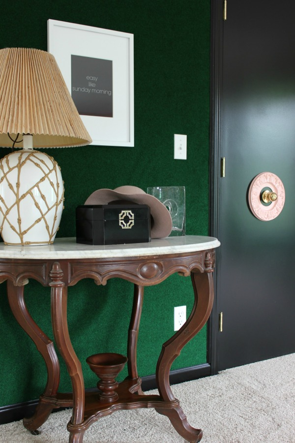 Seven Wall Treatments That Aren't Shiplap: Carpet Covered Feature Wall   Accent Wall