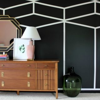 Seven Wall Treatments That Aren't Shiplap: Black and White Accent Wall | Feature Wall