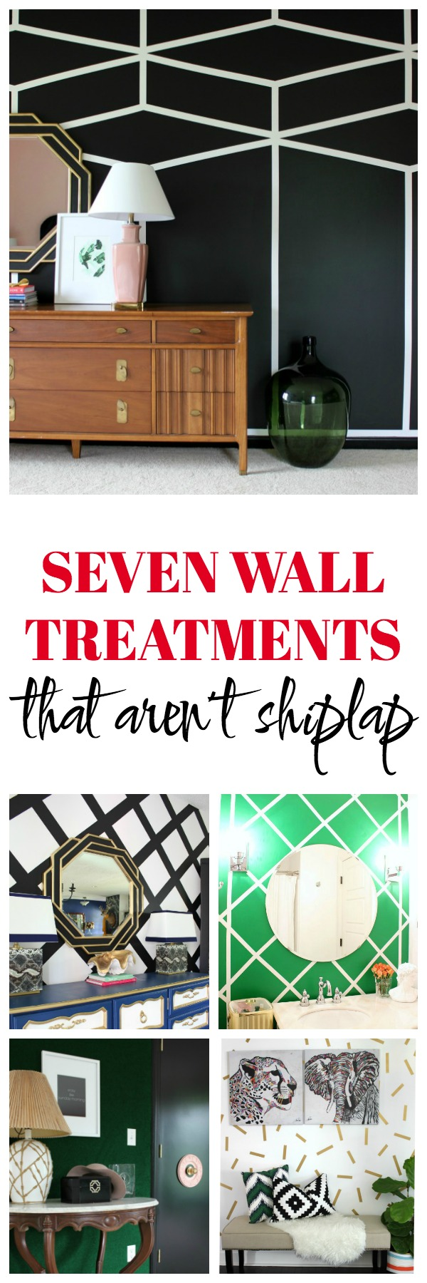 Wall Treatments That Aren't Shiplap | Accent Wall Ideas | Feature Wall Ideas | Accent Wall Designs | DIY Accent Wall | Painted Accent Wall
