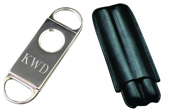 Affordable and Great Gift Ideas for Men: Travel Cigar Holder and Personalized Cigar Cutter