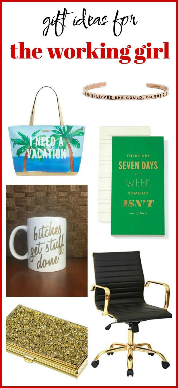 Gift Ideas for the Working Girl: Have a lady who works hard every single day? Check out this list to find her the perfect gift!