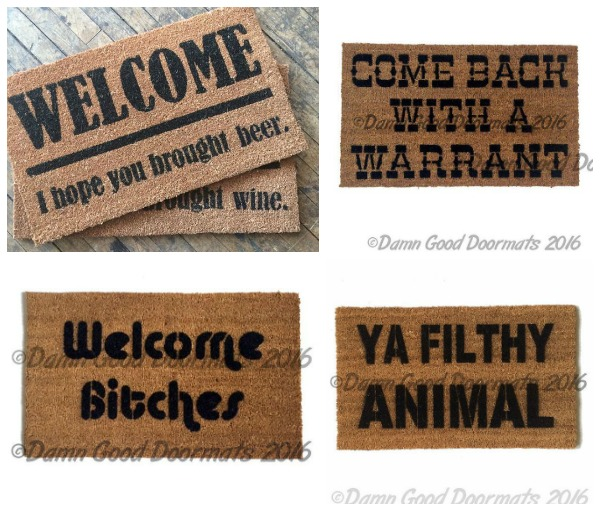 Gift Ideas for Your Blunt Friend: Sarcastic Doormats
