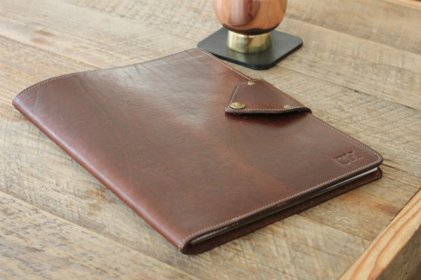Affordable and Great Gift Ideas for Men: A personalized leather portfolio.