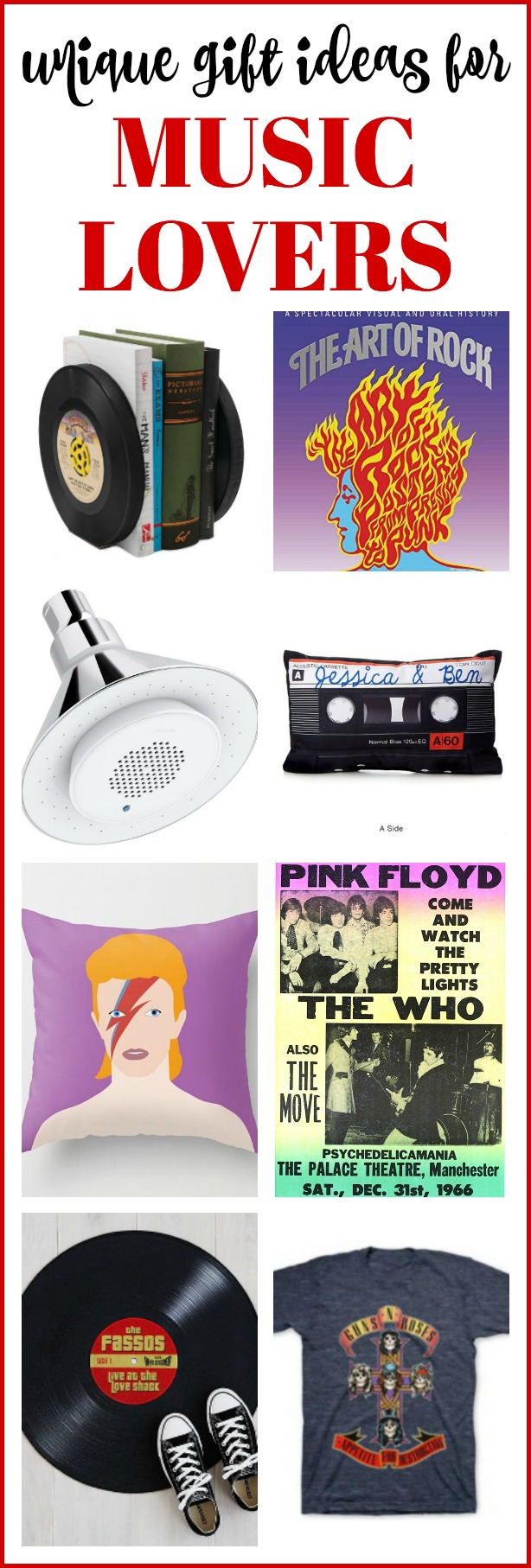 gift ideas for music lovers: music themed gifts