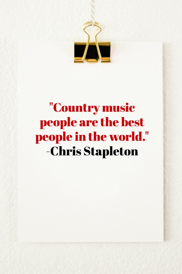 CMA Awards Emotional Roller Coaster | Chris Stapleton Quote