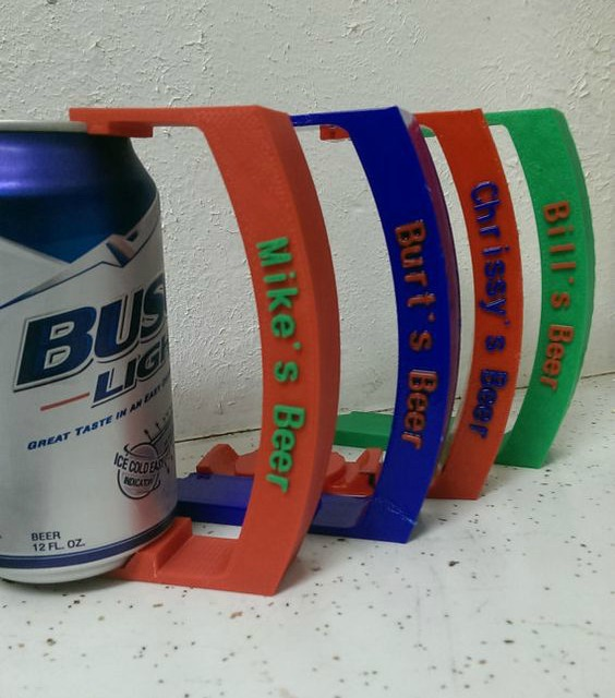 Gift Ideas for People Who Love to Drink - Personalized Beer Can Handle