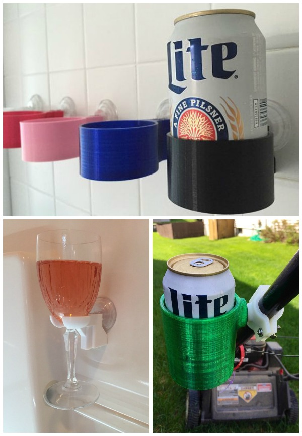 Gift Ideas for People Who Love to Drink - Shower and Bath Drink Holders