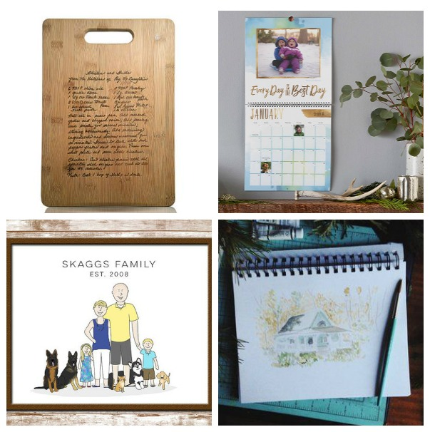 A Wedding Gift For Someone That Has Everything Suggestions : Engraved Family Recipe Cutting Board / Personalized Photo Calendars ...