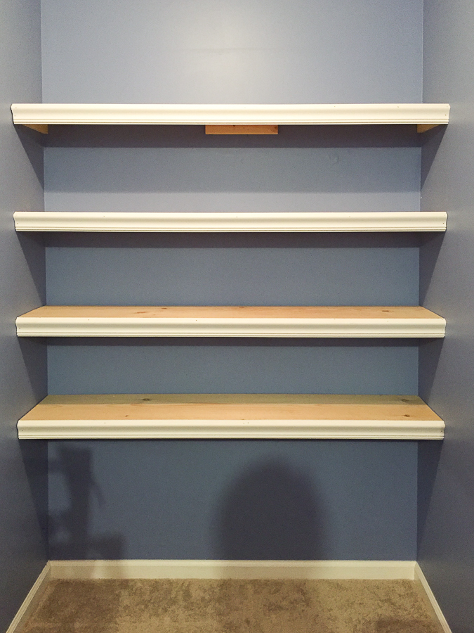 How to Build Wall to Wall Shelving in an hour for $50