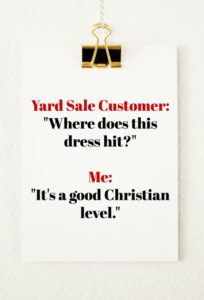 Freak Show Friday: The Yard Sale Chronicles