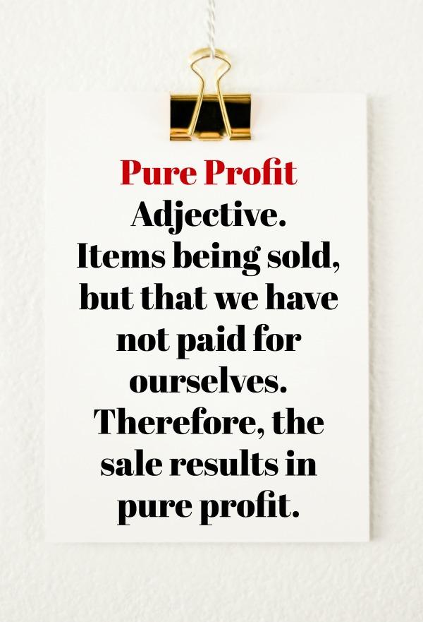 Yard Sale Chronicles: Pure Profit