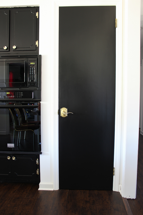 Door Upgrade In A Day Black Doors White Trim And Br Hardware