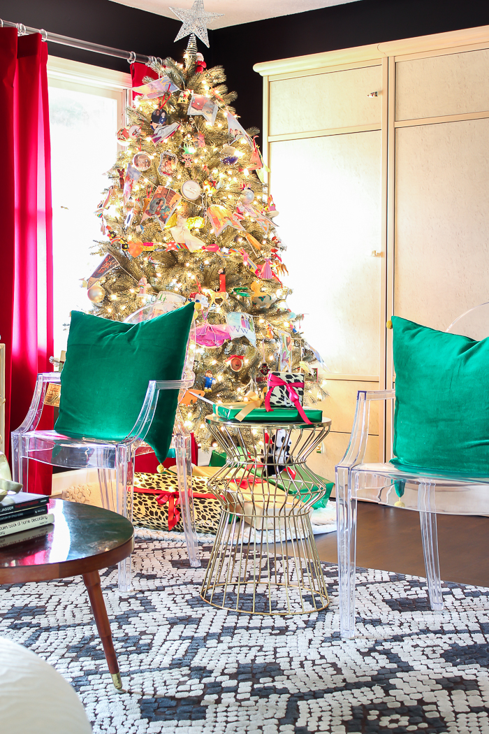 A Colorful Christmas Home Tour: The Living Room