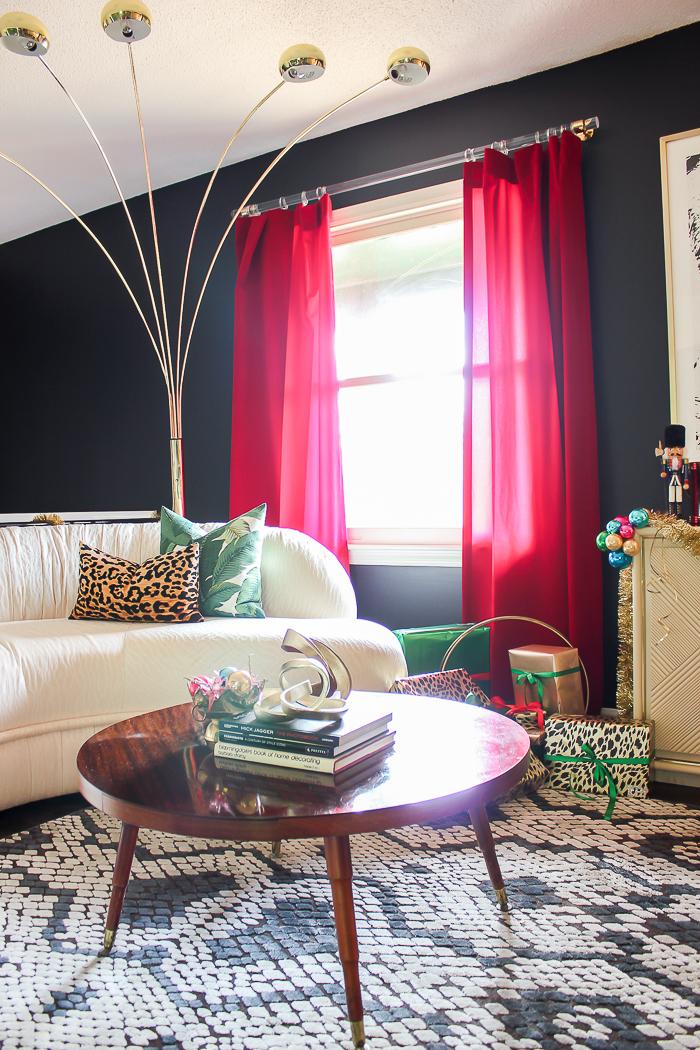 A Colorful Christmas Home Tour: The Living Room
