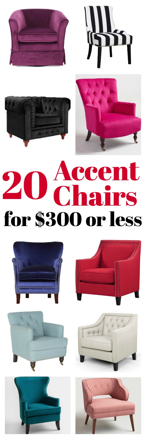Affordable Accent Chairs For $300 Or Less | Accent Chairs For Living Room | Upholstered  Chairs