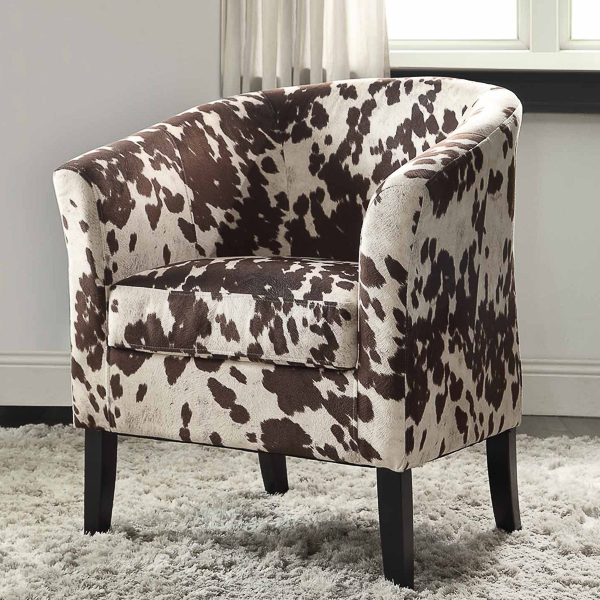 Cowhide Accent Chair | Affordable Accent Chairs for $300 or Less | Accent Chairs for Living Room | Upholstered Chairs | Upholstered Accent Chair