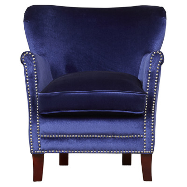 Blue Velvet Accent Chair | Affordable Accent Chairs for $300 or Less | Accent Chairs for Living Room | Upholstered Chairs | Upholstered Accent Chair