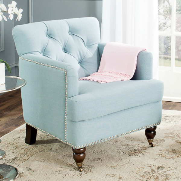 Blue Accent Chair | Affordable Accent Chairs for $300 or Less | Accent Chairs for Living Room | Upholstered Chairs | Upholstered Accent Chair