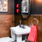 Low Budget Half-Bath Remodel   DIY Wood Walls