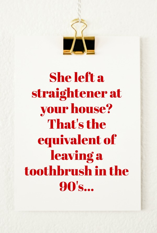 Quotes from Last Night | Volume Two | The toothbrush of the 90's