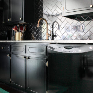 Black, White and Brass Kitchen Remodel