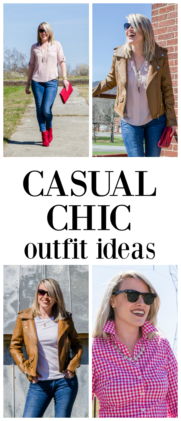 Get ideas for spring outfits with these easy, but stylish spring casual chic looks. Full of simple, but unique ideas for casual chic outfits for women.