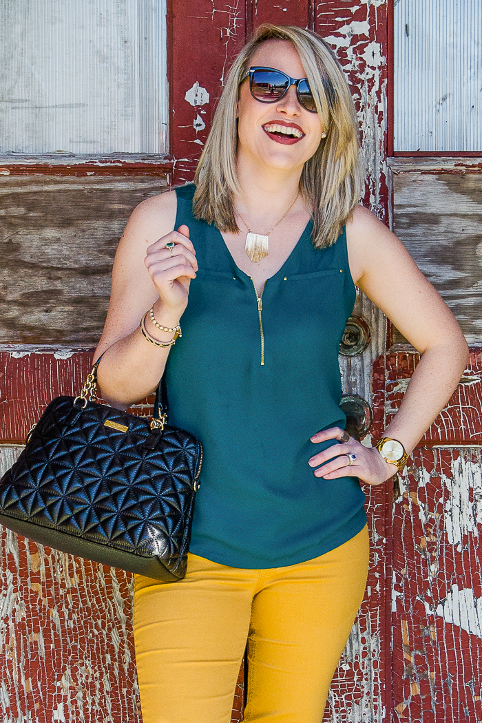 Casual Outfits | Casual Cute Outfits | Casual Chic Outfit Spring | Spring Outfit Ideas for Women | What to Wear With Mustard Pants