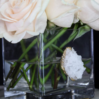 DIY Faux Crystal Vase