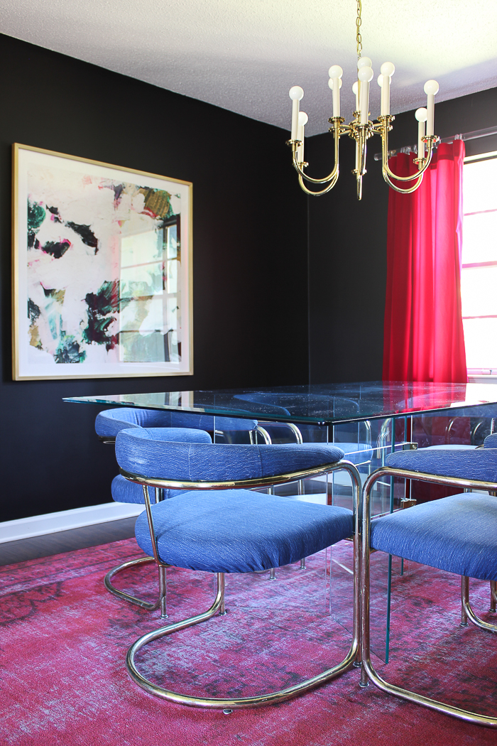 Dining Room Decorating Ideas | Jewel Toned Dining Room | Black Dining Room | Moody Dining Room