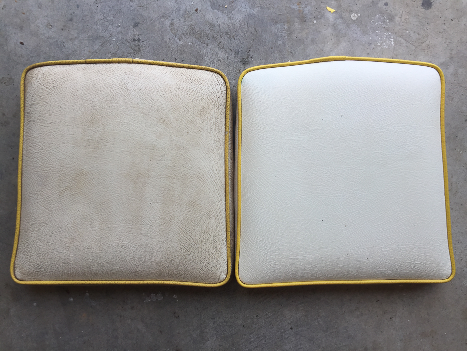 Before tossing that grime covered vinyl chair out, try this idea for cleaning vinyl upholstery. You might be surprised at how easy it is to clean vinyl!