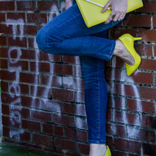 Must Have Shoes for Women: Neon Yellow Heels. The perfect height high heel with a bold pop of color.