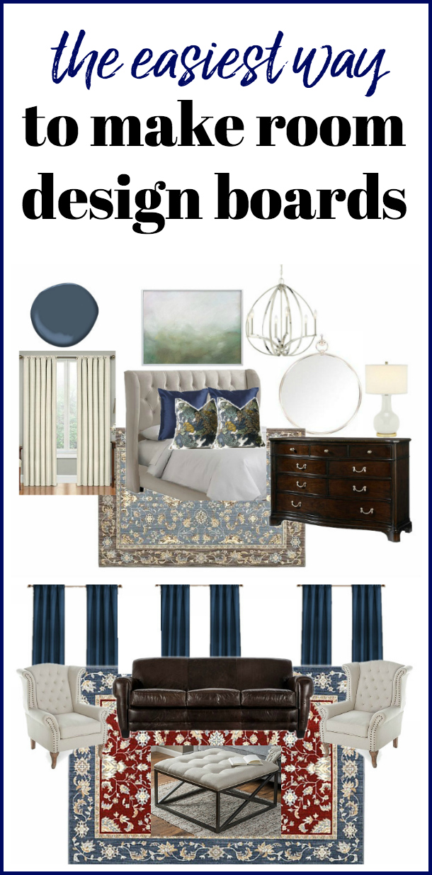 Use this tutorial for how to make mood boards to map out a room makeover! Creating a room design board will help you decide what works and what won't.