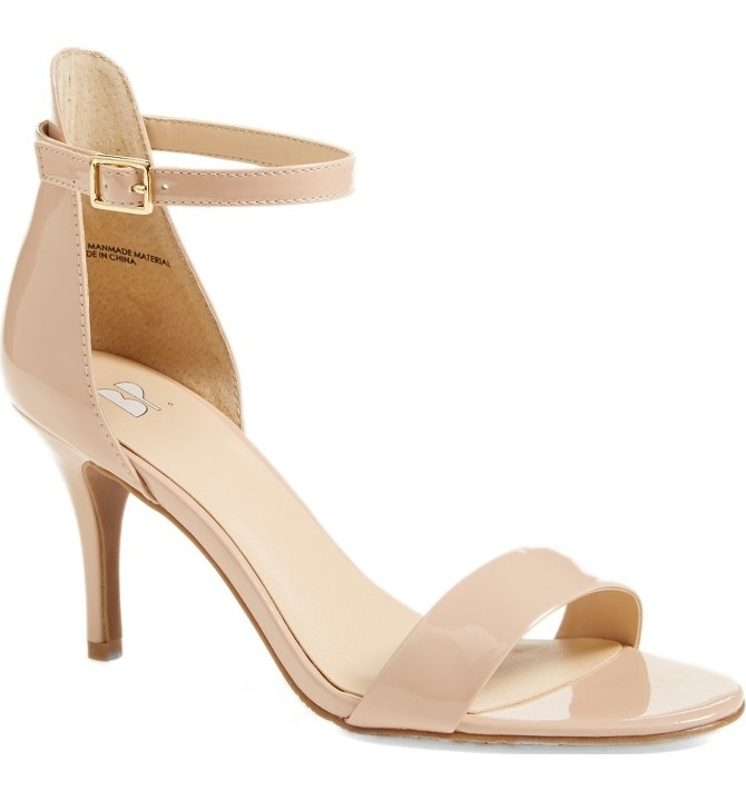 Must Have Shoes for Women: Nude Sandal Heels - the perfect heel that goes with everything.