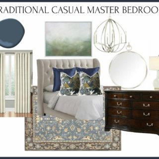 The Farm: Traditional Casual Master Bedroom Design