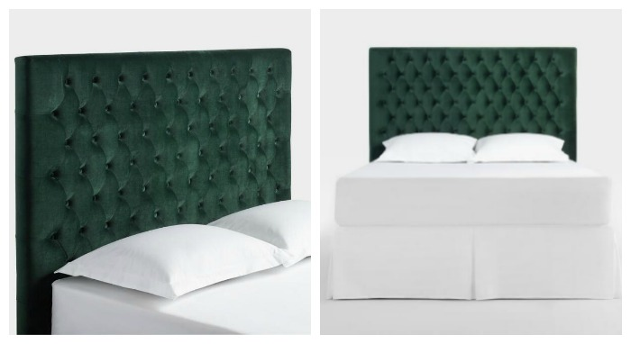 Budget Buys: Green Velvet Tufted Headboard