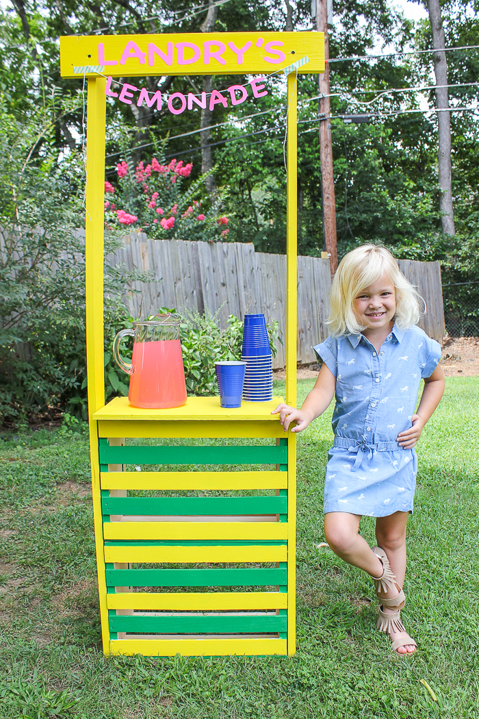 Diy Lemonade Stand Super Easy To Build Kids Lemonade Stand