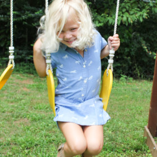 Summer Fun on the Swing in a Hatley Horse Dress