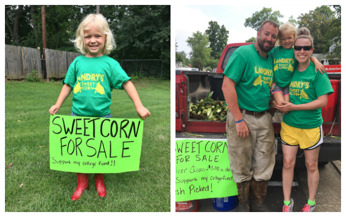 Summer Fun Selling Corn