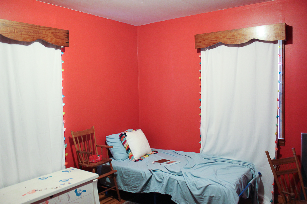 The Bedroom Now  A bright red. Seeing Red  The Circus  Farmhouse Bedroom Plans