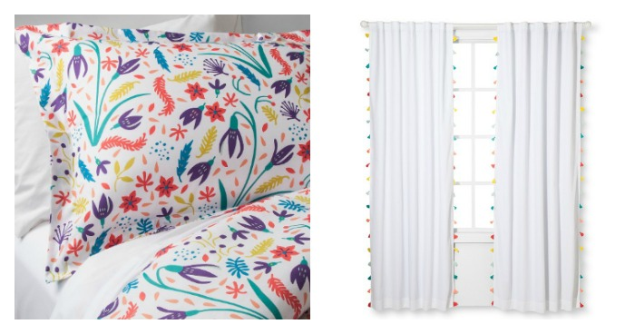 Colorful Boho Cowgirl Girls Bedroom Design: Textiles