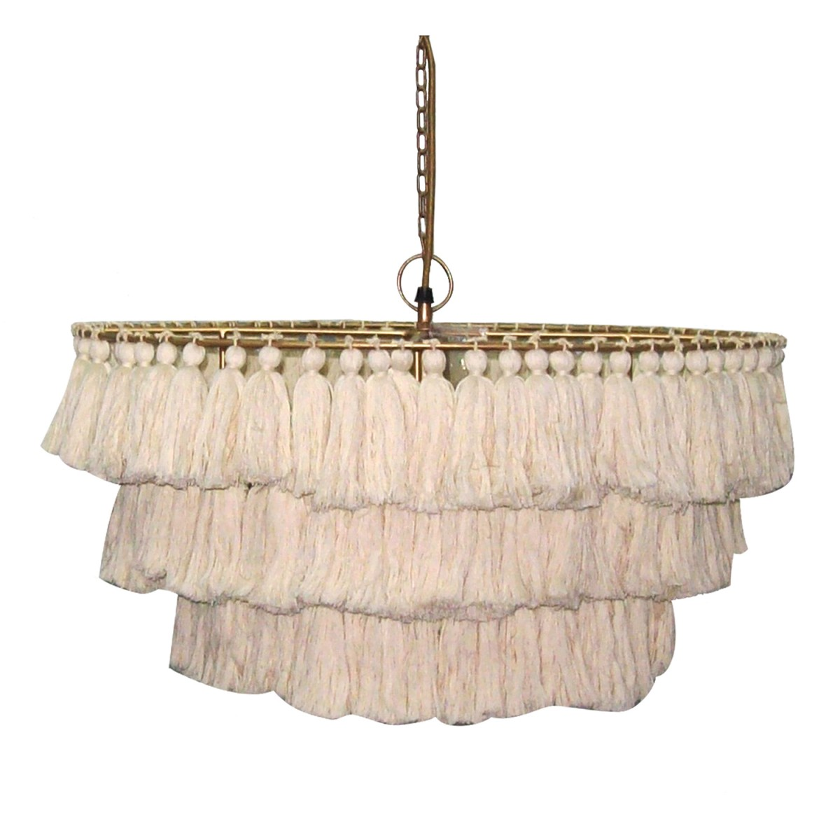 Unique Colorful Boho Cowgirl Girls Bedroom Design DIY Tassel Fringe Lighting Tasseled Chandelier